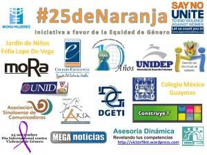 Participantes en #25deNaranja Iniciativa a favor de la Equidad de Género